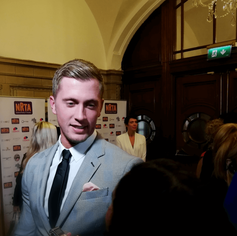 Dan Osborne at the National Reality TV Awards following his success on Celebrity Big Brother 2018.